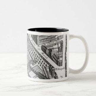 Plan of Paris Two-Tone Coffee Mug