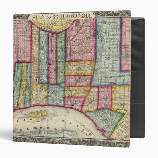 Plan Of Philadelphia 3 Ring Binder