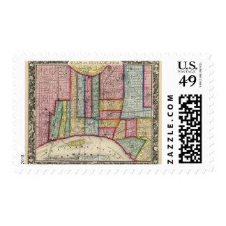 Plan Of Philadelphia Postage Stamp