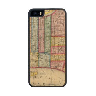 Plan Of Philadelphia Wood Phone Case For iPhone SE/5/5s