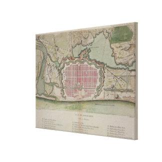 Plan of Pondicherry, from 'Voyage aux Indes et la Canvas Print