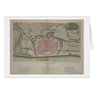 Plan of Pondicherry, from 'Voyage aux Indes et la Card