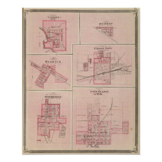 Plan of Portland, Jay Co, Ind with Camden Poster