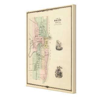 Plan of Racine, county seat of Racine Co Canvas Print