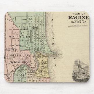 Plan of Racine, county seat of Racine Co Mouse Pad