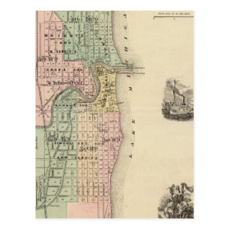 Plan of Racine, county seat of Racine Co Post Cards