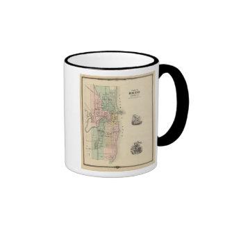 Plan of Racine, county seat of Racine Co Ringer Mug