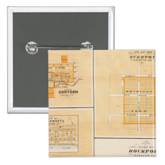 Plan of Rockport, Spencer Co with Everton Pinback Button
