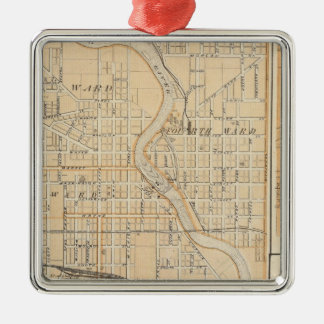 Plan of South Bend with Mishawaka Metal Ornament