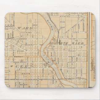 Plan of South Bend with Mishawaka Mouse Pad