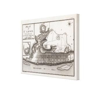 Plan of St Lewis Canvas Print