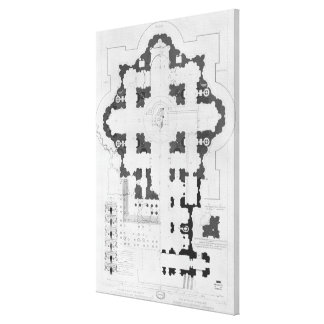 Plan of St. Peter's Basilica Canvas Print