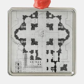 Plan of St. Peter's Basilica Metal Ornament