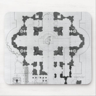 Plan of St. Peter's Basilica Mouse Pad