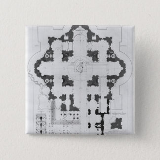 Plan of St. Peter's Basilica Pinback Button