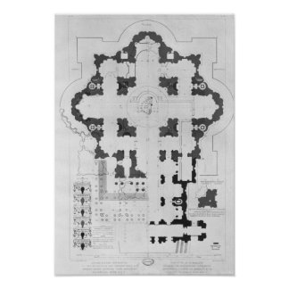 Plan of St. Peter's Basilica Poster