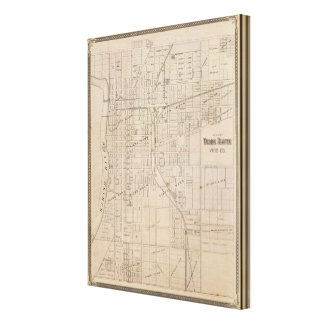 Plan of Terre Haute, Vigo Co Canvas Prints