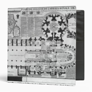 Plan of the Abbey Church of St. Denis, 1705 3 Ring Binder