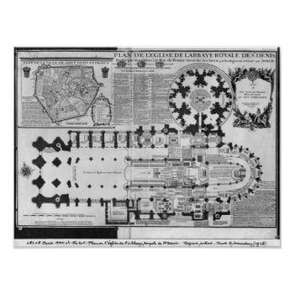 Plan of the Abbey Church of St. Denis, 1705 Poster