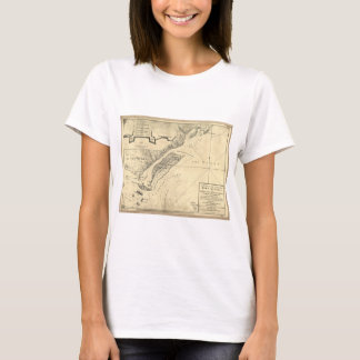 Plan of the Attack Fort Sulivan Map (June 28 1776) T-Shirt