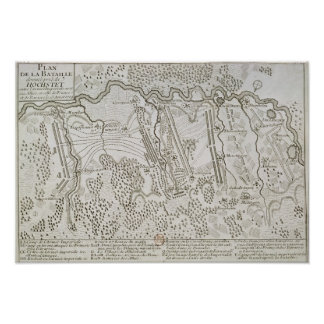 Plan of the Battle of Blenheim between the Army Print