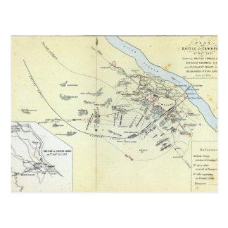 Plan of the Battle of Cawnpoor Postcard