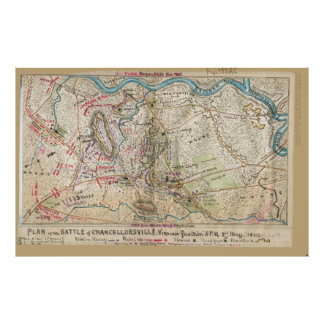 Plan of the battle of Chancellorsville Poster