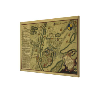 Plan of the Battle of Kunersdorf Canvas Print