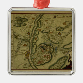 Plan of the Battle of Kunersdorf Metal Ornament