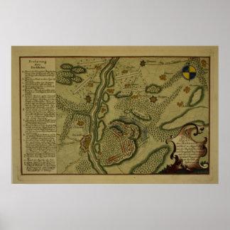 Plan of the Battle of Kunersdorf Poster