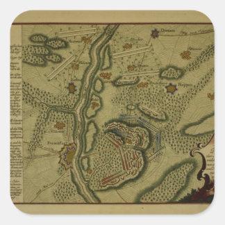 Plan of the Battle of Kunersdorf Square Sticker