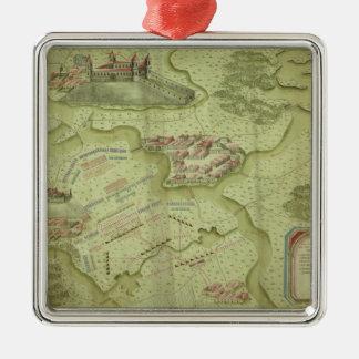 Plan of the Battle of Mollwitz Metal Ornament