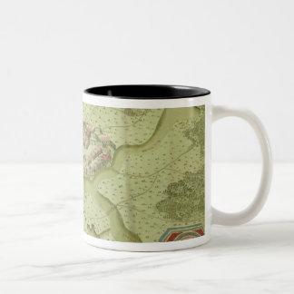 Plan of the Battle of Mollwitz Two-Tone Coffee Mug