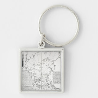 Plan of the Bay and Harbour of Rio de Janeiro Key Chain