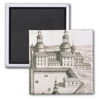 Plan of the Benedictine Abbey of Saint-Riquier 2 Inch Square Magnet