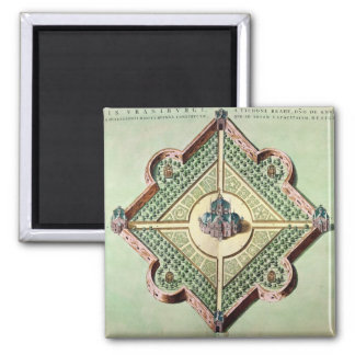 Plan of the Castle and Observatory 2 Inch Square Magnet