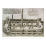 Plan of the Circus Maximus, Rome, engraved by the Postcard