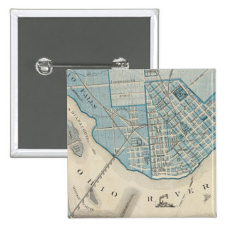 Plan of the City of Jeffersonville and vicinity Pinback Button