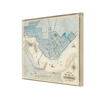 Plan of the City of Jeffersonville and vicinity Canvas Prints