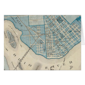 Plan of the City of Jeffersonville and vicinity Card