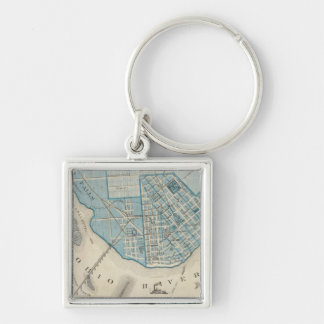 Plan of the City of Jeffersonville and vicinity Keychain