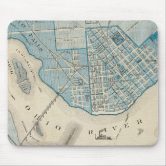Plan of the City of Jeffersonville and vicinity Mouse Pad