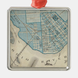 Plan of the City of Jeffersonville and vicinity Christmas Tree Ornament