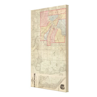 Plan of the City of Minneapolis and Vicinity Canvas Print