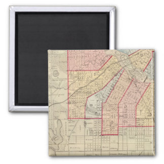 Plan of the City of Minneapolis and Vicinity Magnet