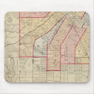 Plan of the City of Minneapolis and Vicinity Mousepads