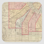 Plan of the City of Minneapolis and Vicinity Square Sticker