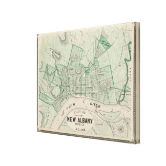 Plan of the City of New Albany, Floyd Co, Indiana Canvas Print