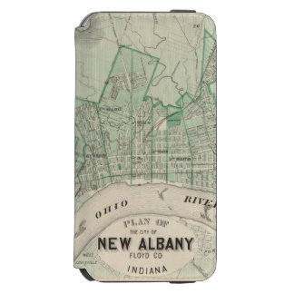 Plan of the City of New Albany, Floyd Co, Indiana iPhone 6/6s Wallet Case