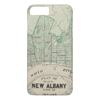 Plan of the City of New Albany, Floyd Co, Indiana iPhone 8 Plus/7 Plus Case